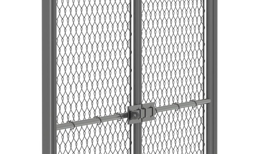 Fences Gate Door royalty-free 3d model - Preview no. 91