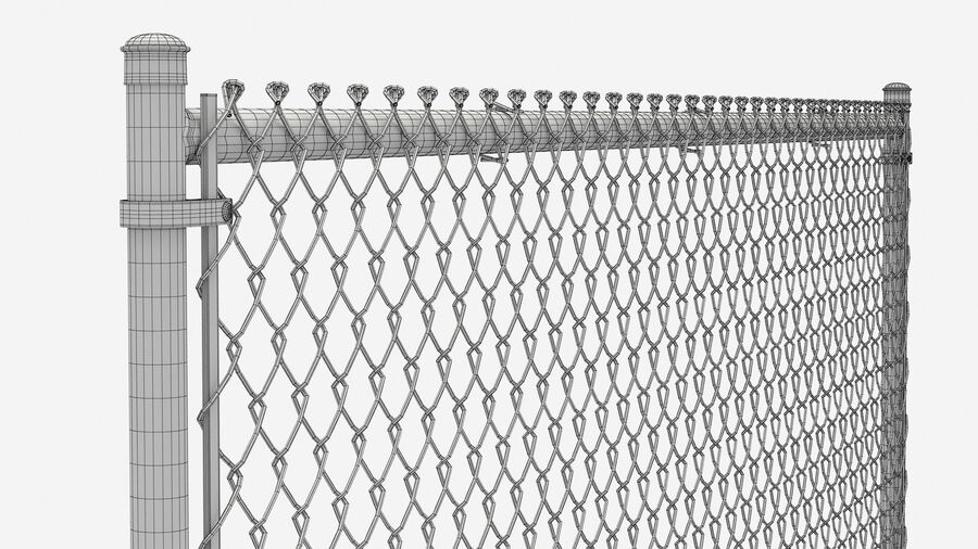 Fences Gate Door royalty-free 3d model - Preview no. 80