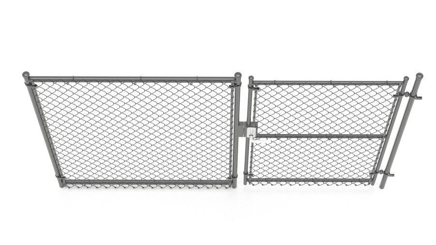 Fences Gate Door royalty-free 3d model - Preview no. 107
