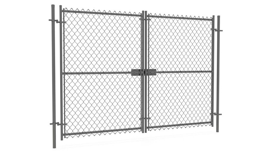 Fences Gate Door royalty-free 3d model - Preview no. 92