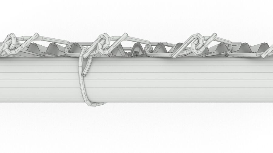 Fences Gate Door royalty-free 3d model - Preview no. 39