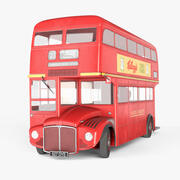 London Routemaster Bus [LOW POLY] 3d model