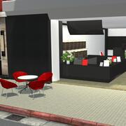 Hand Cup İçecek Dükkanı 3d model