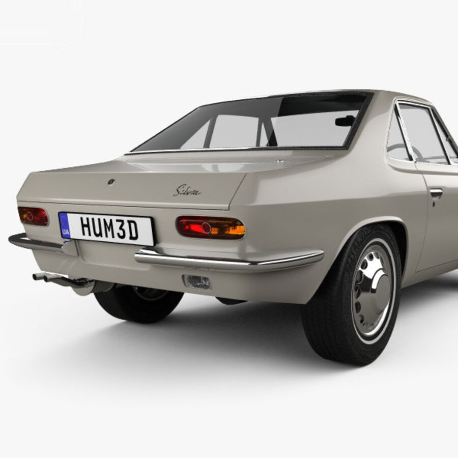 Nissan Silvia 1965 royalty-free 3d model - Preview no. 7