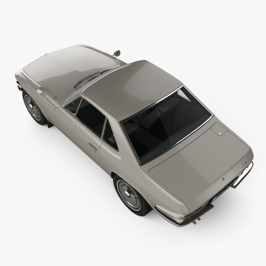 Nissan Silvia 1965 royalty-free 3d model - Preview no. 9