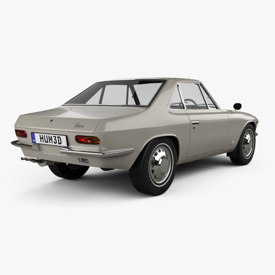 Nissan Silvia 1965 royalty-free 3d model - Preview no. 2