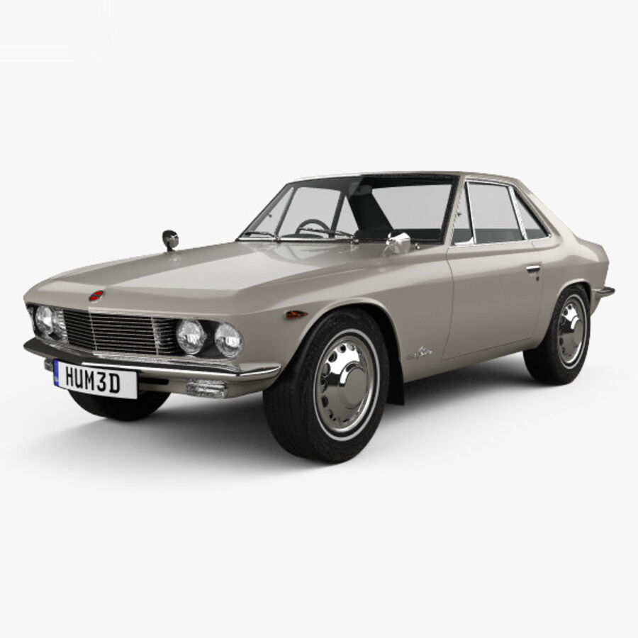Nissan Silvia 1965 royalty-free 3d model - Preview no. 1