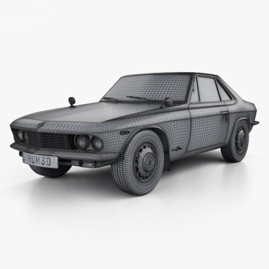 Nissan Silvia 1965 royalty-free 3d model - Preview no. 3