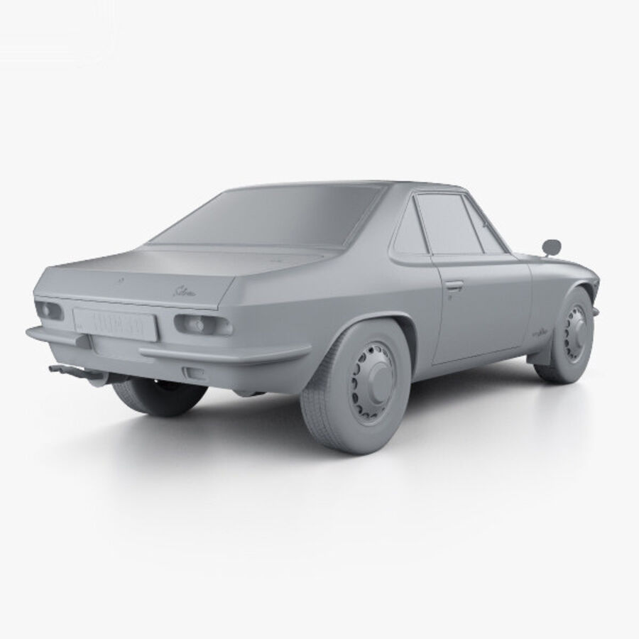 Nissan Silvia 1965 royalty-free 3d model - Preview no. 12