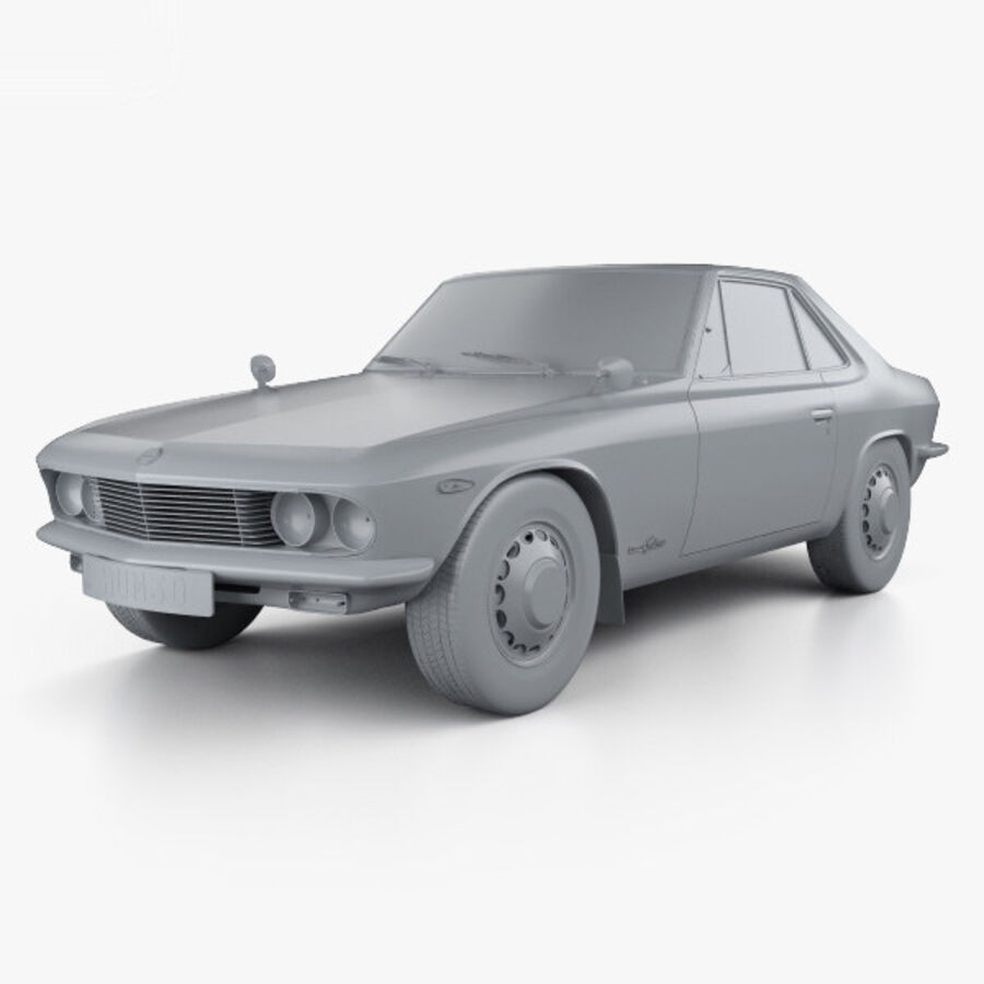 Nissan Silvia 1965 royalty-free 3d model - Preview no. 11