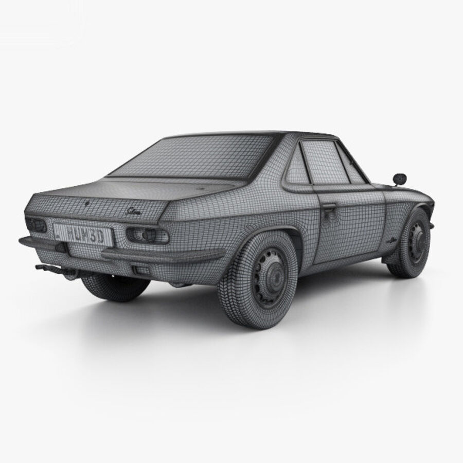 Nissan Silvia 1965 royalty-free 3d model - Preview no. 4