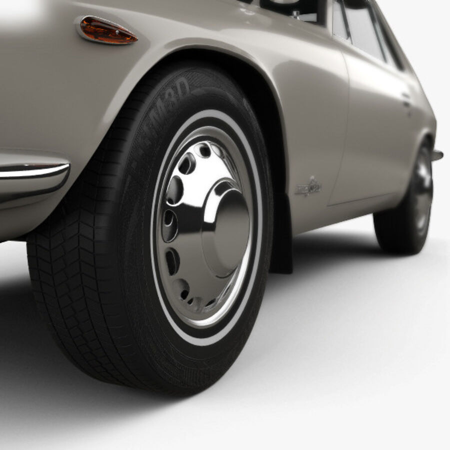 Nissan Silvia 1965 royalty-free 3d model - Preview no. 8
