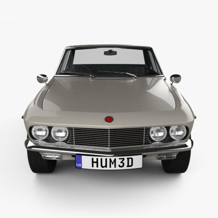 Nissan Silvia 1965 royalty-free 3d model - Preview no. 10