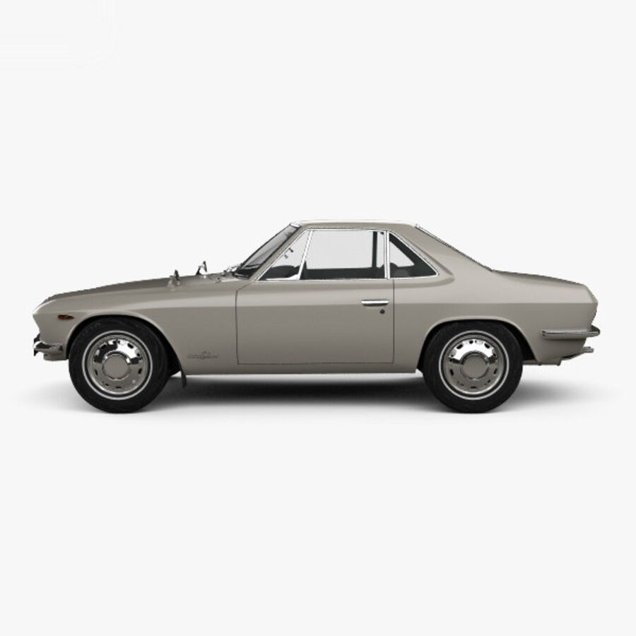 Nissan Silvia 1965 royalty-free 3d model - Preview no. 5