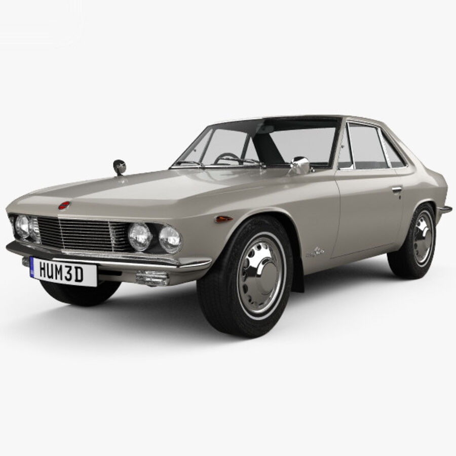 Nissan Silvia 1965 royalty-free 3d model - Preview no. 6