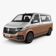 Volkswagen Transporter Multivan Bulli 2019 년 3d model