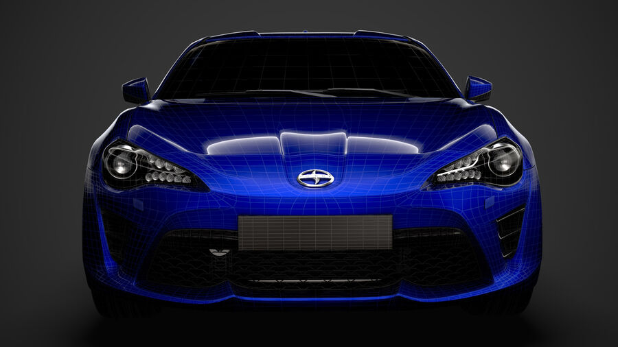 Vástago FR-S 2016 royalty-free modelo 3d - Preview no. 35