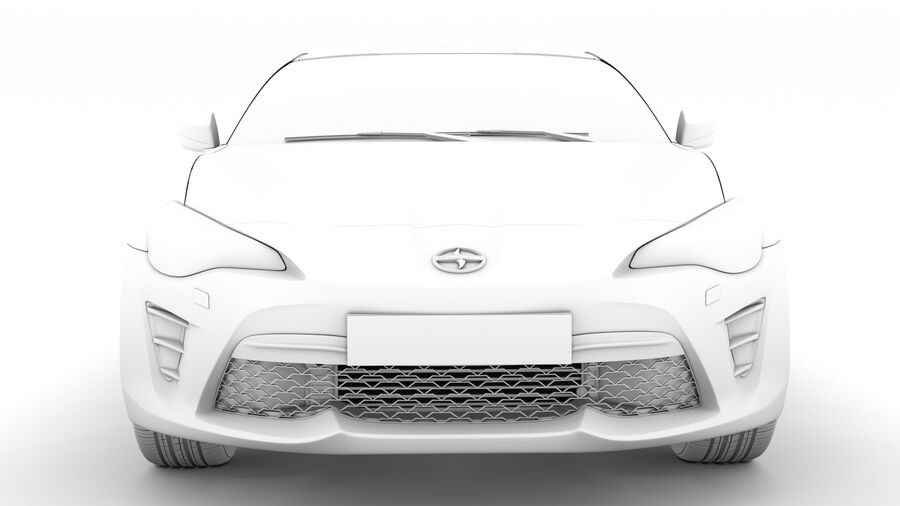Vástago FR-S 2016 royalty-free modelo 3d - Preview no. 21