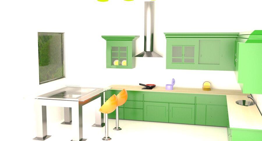Diseño de cocina royalty-free modelo 3d - Preview no. 3