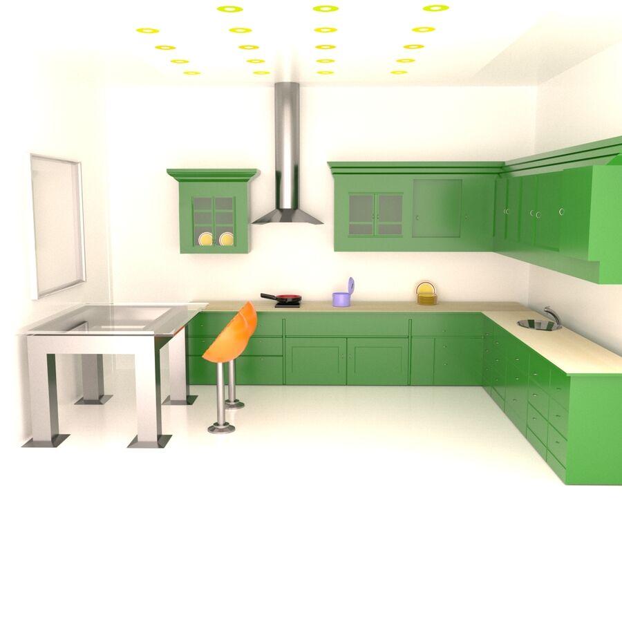 Diseño de cocina royalty-free modelo 3d - Preview no. 1