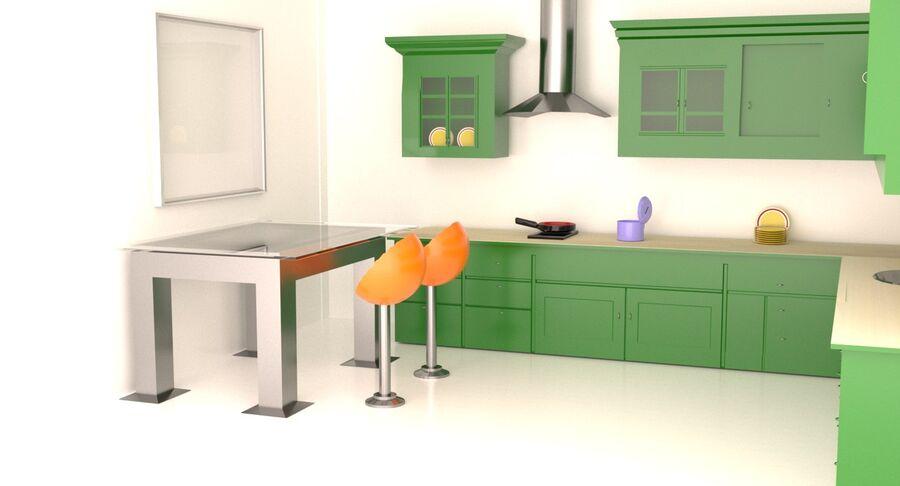 Diseño de cocina royalty-free modelo 3d - Preview no. 2