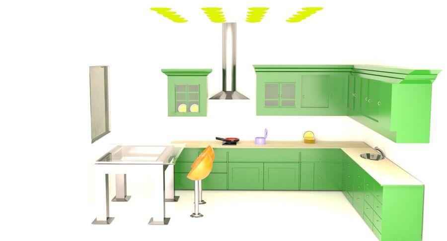 Diseño de cocina royalty-free modelo 3d - Preview no. 5