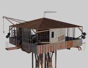 종말 이후의 가드 타워 3d model