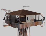 Post-apocalypse Guard Tower 3d model