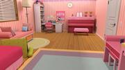 만화 침실 소녀 방 3d model