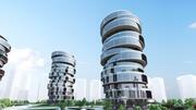 Simple Future City Concept 02 3d model