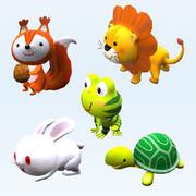 3D Cartoon gestileerde dieren collectie 05 3d model