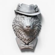 Gioielli scultura gentiluomo lupo 3d model