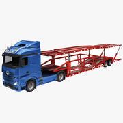 Transportador de camiones y automóviles modelo 3d
