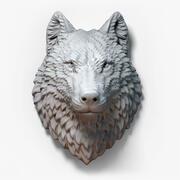 Gioielli scultura testa di lupo 3d model