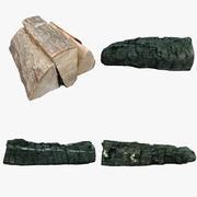 Коллекция деревянных бревен 04 3d model