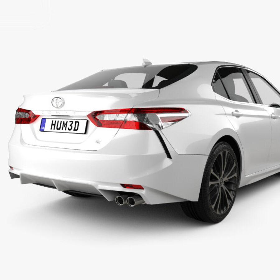 도요타 캠리 SE 2018 royalty-free 3d model - Preview no. 7