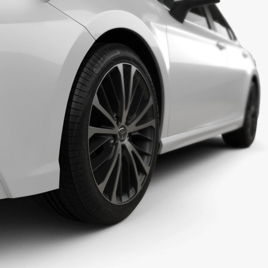 도요타 캠리 SE 2018 royalty-free 3d model - Preview no. 8