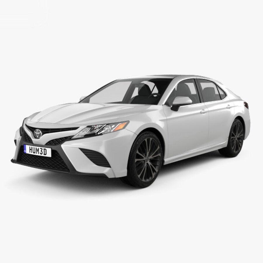 도요타 캠리 SE 2018 royalty-free 3d model - Preview no. 1