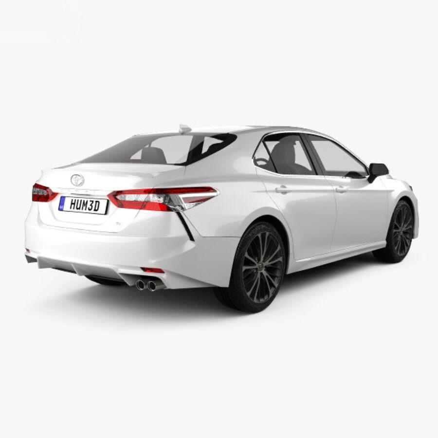 도요타 캠리 SE 2018 royalty-free 3d model - Preview no. 2
