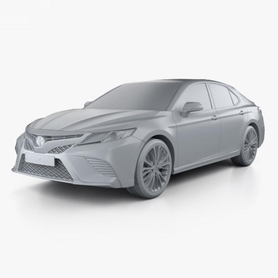 도요타 캠리 SE 2018 royalty-free 3d model - Preview no. 11