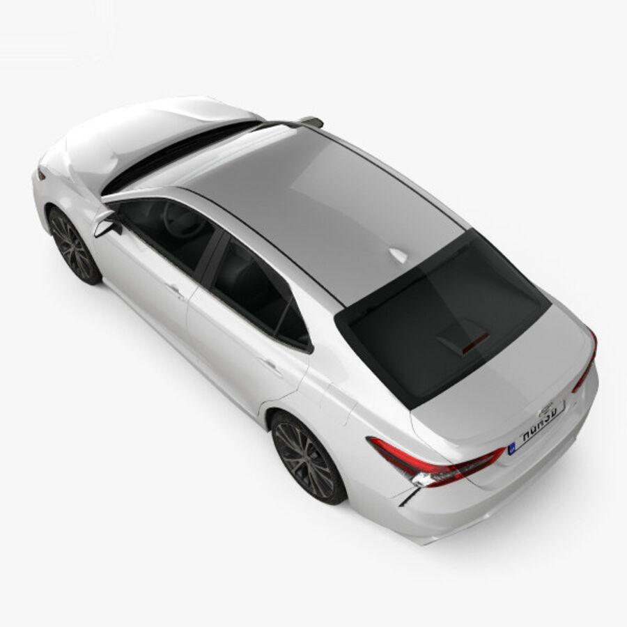 도요타 캠리 SE 2018 royalty-free 3d model - Preview no. 9