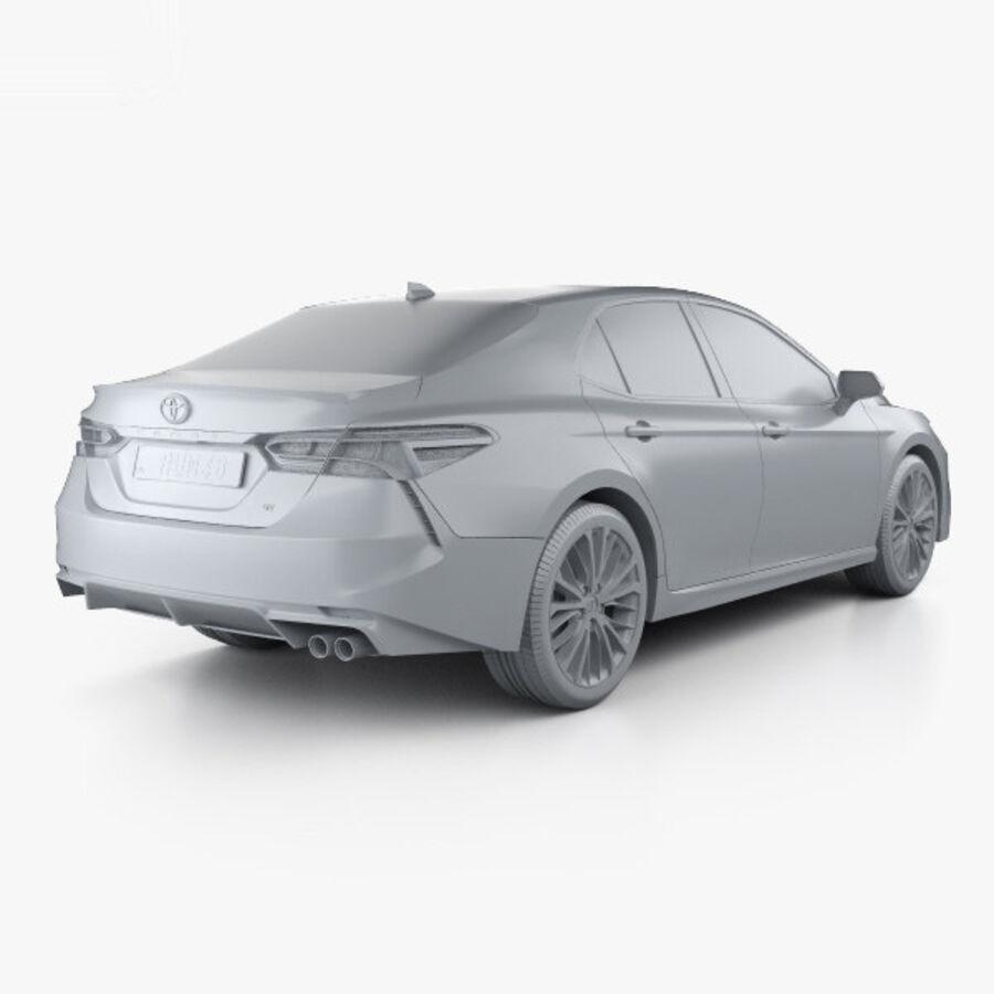 도요타 캠리 SE 2018 royalty-free 3d model - Preview no. 12