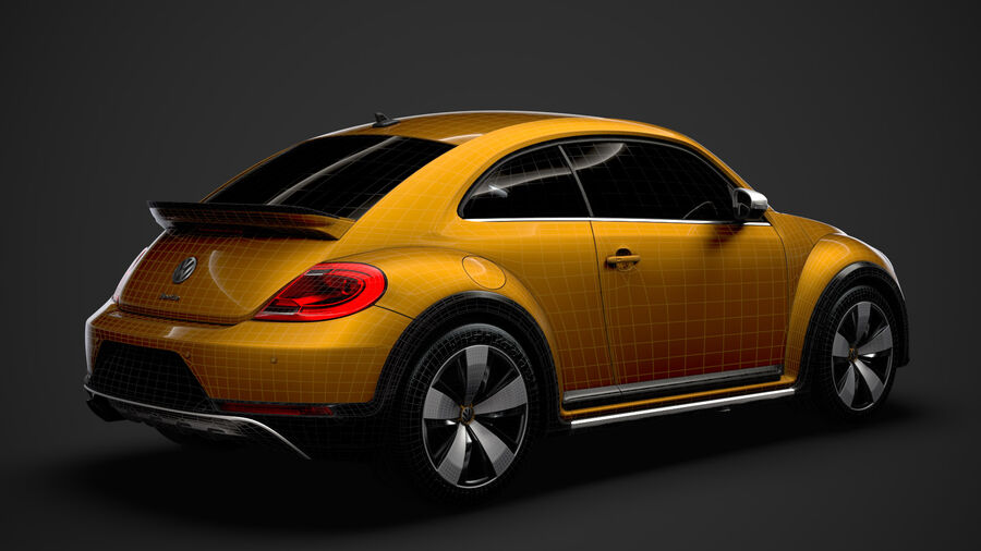 VW Beetle Dune 2020 royalty-free modelo 3d - Preview no. 31