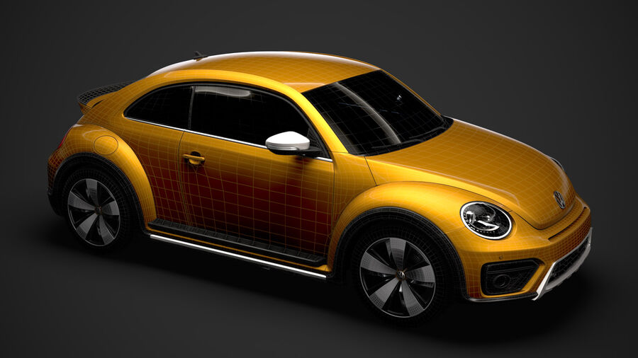 VW Beetle Dune 2020 royalty-free modelo 3d - Preview no. 41