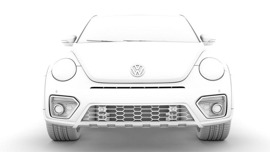 VW Beetle Dune 2020 royalty-free modelo 3d - Preview no. 21