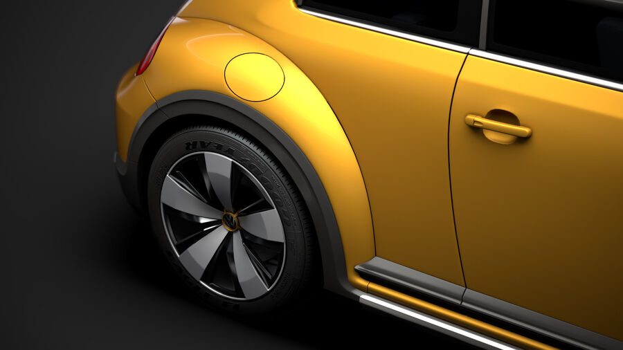 VW Beetle Dune 2020 royalty-free modelo 3d - Preview no. 12
