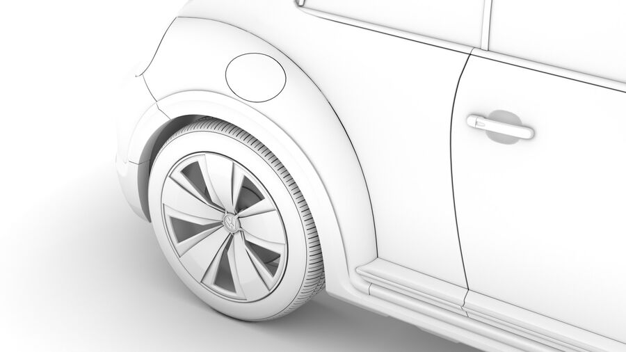 VW Beetle Dune 2020 royalty-free modelo 3d - Preview no. 26