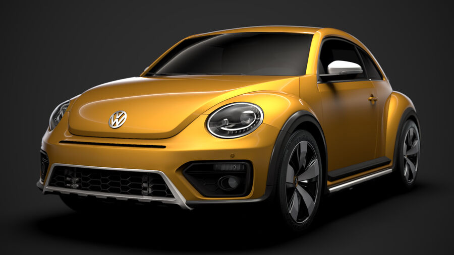 VW Beetle Dune 2020 royalty-free modelo 3d - Preview no. 9