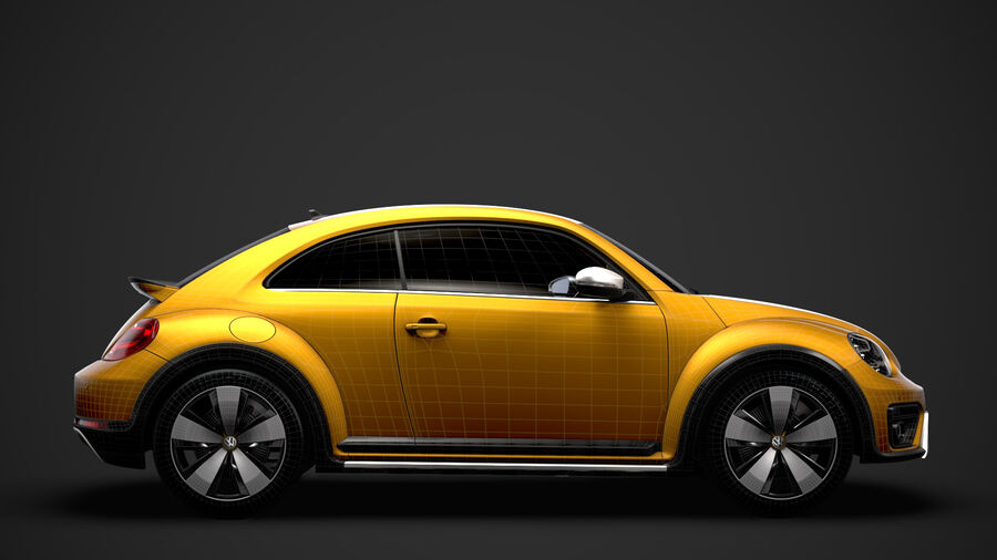 VW Beetle Dune 2020 royalty-free modelo 3d - Preview no. 30