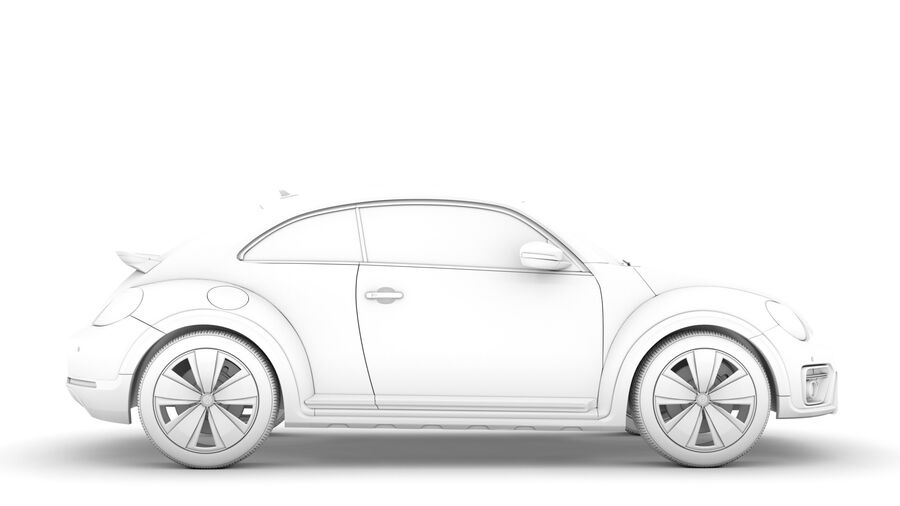 VW Beetle Dune 2020 royalty-free modelo 3d - Preview no. 16